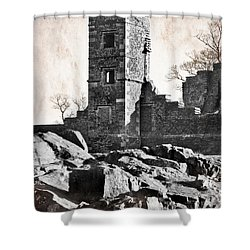 The Empty Tower Shower Curtain by Linsey Williams