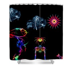 The Enchanted Smoke Spider Shower Curtain by Steve Purnell