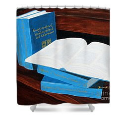 The Encyclopedia Of Newfoundland And Labrador - Joeys Books Shower Curtain by Barbara Griffin