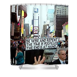 The End Is At Hand Shower Curtain by Ed Weidman