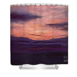 The End Of A Perfect Day Shower Curtain by Valerie Travers