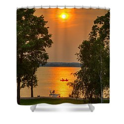 The End Of A Perfect Day Shower Curtain