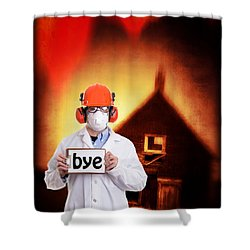 The End Of The World Shower Curtain by Edward Fielding