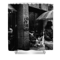 The End Of The World Shower Curtain by Linda Unger