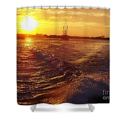 Shower Curtain featuring the photograph The End To A Fishing Day by John Telfer