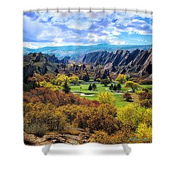 The Ending Of Time Shower Curtain