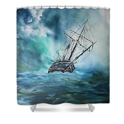 The Endurance At Sea Shower Curtain by Jean Walker