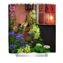 The English Cottage Window Shower Curtain by Dora Sofia Caputo Photographic Art and Design