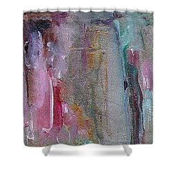 Shower Curtain featuring the painting The Entrance by Mary Wolf