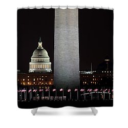 The Essence Of Washington At Night Shower Curtain