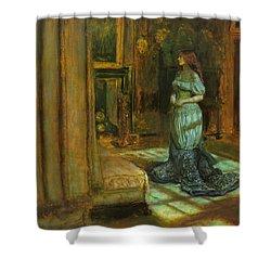 The Eve Of St Agnes Shower Curtain by John Everett Millais