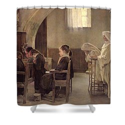 The Eve Of The First Communion Shower Curtain