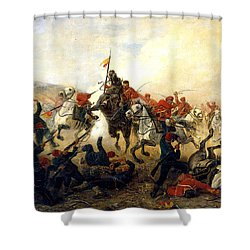The Event At The Village Telishe Shower Curtain by Victor Mazurovsky