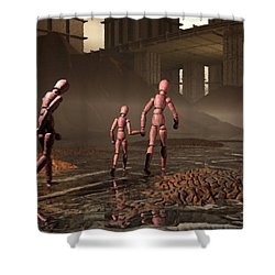 Shower Curtain featuring the digital art The Exiles Sojourn by John Alexander