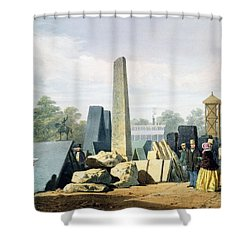 The Exterior, From Dickinsons Shower Curtain