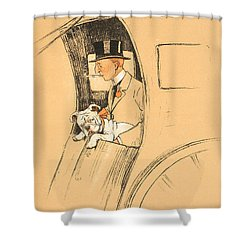 The Extra Passenger Shower Curtain by Cecil Charles Windsor Aldin
