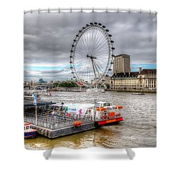 The Eye Across The Thames Shower Curtain