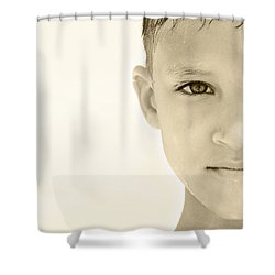 The Eye Of A Child Shower Curtain by Charles Beeler