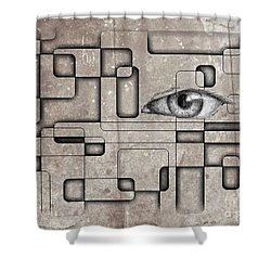 The Eye Of Big Brother Shower Curtain by John Malone