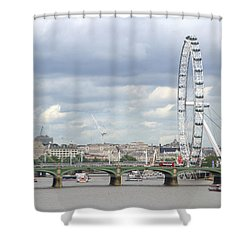 The Eye Of London Shower Curtain by Keith Armstrong