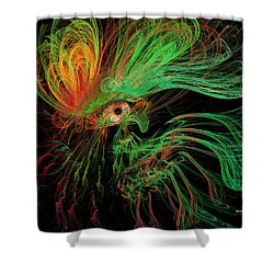 The Eye Of The Medusa Shower Curtain by Angela A Stanton