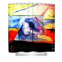 Shower Curtain featuring the painting The Fabric Of My Heart by Hazel Holland