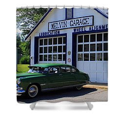 The Fabulous Hudson Hornet Shower Curtain