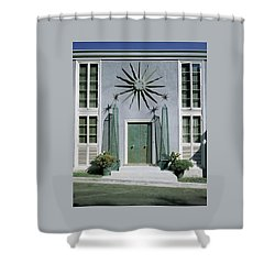 The Facade Of Tony Duquette's House Shower Curtain