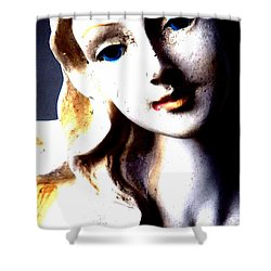 Shower Curtain featuring the photograph The Face Of A Woman by Faith Williams