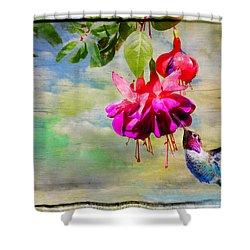 The Face Of Fuchsia Shower Curtain by Lynn Bauer
