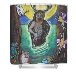 The Faery Shaman Shower Curtain by Diana Haronis
