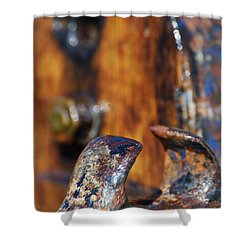 Shower Curtain featuring the photograph The Fairlead by Wendy Wilton
