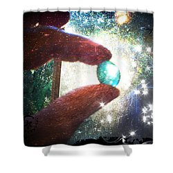 Shower Curtain featuring the photograph The Fairy Stone - Nature Angel  by Absinthe Art By Michelle LeAnn Scott