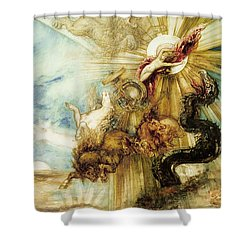 The Fall Of Phaethon Shower Curtain by Gustave Moreau