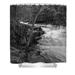 The Falls Shower Curtain by David Rucker