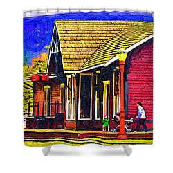 The Family Outing Shower Curtain by Kirt Tisdale