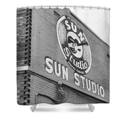 The Famous Sun Studio In Memphis Tennessee Shower Curtain by Dan Sproul
