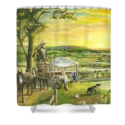 The Farm Boy And The Roads That Connect Us Shower Curtain