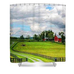 The Farm Shower Curtain by Ronda Ryan