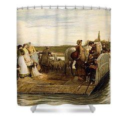 The Ferry Shower Curtain by Robert Walker Macbeth