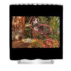 Shower Curtain featuring the photograph The Fire Hose Reel by Thom Zehrfeld