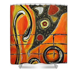 The Fires Of Charged Emotions Shower Curtain by Jolanta Anna Karolska