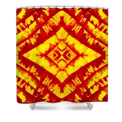 The Fires Of Creation Shower Curtain by Drew Goehring