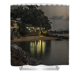 The First Evening Light Reflections Shower Curtain