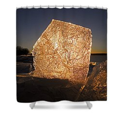 Shower Curtain featuring the photograph The First Ice ... by Juergen Weiss