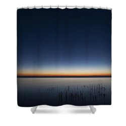 The First Light Of Dawn Shower Curtain by Scott Norris
