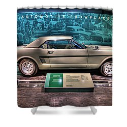 The First Mustang  Shower Curtain by Nicholas  Grunas