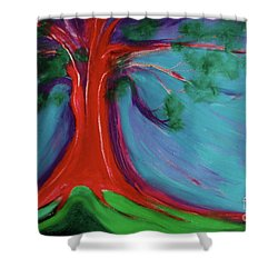Shower Curtain featuring the painting The First Tree By Jrr by First Star Art