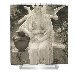 The First Whisper Of Love After Bouguereau Shower Curtain by  John Douglas Miller