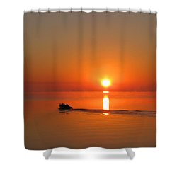The Fish Are Waiting Shower Curtain